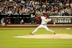 Béisbol de la jarra del col Hamels - de Phillies Fotografía de archivo