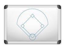 Béisbol de Whiteboard Fotos de archivo