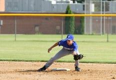 Béisbol del equipo universitario de la High School secundaria Imágenes de archivo libres de regalías