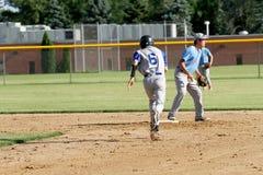 Béisbol del equipo universitario de la High School secundaria Fotografía de archivo