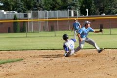 Béisbol del equipo universitario de la High School secundaria Imagen de archivo