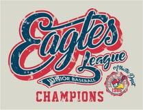 Béisbol del joven de Eagles Imagenes de archivo