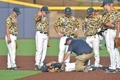 2015 béisbol del NCAA - TCU @ WVU Fotos de archivo libres de regalías