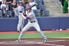2015 béisbol del NCAA - WVU-TCU Fotos de archivo