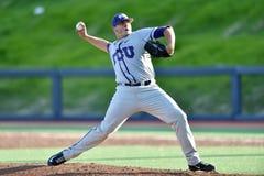 2015 béisbol del NCAA - WVU-TCU Foto de archivo libre de regalías