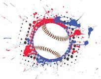 Béisbol del vector con la salpicadura Imagenes de archivo