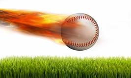 Béisbol en el fuego fotografía de archivo