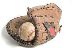 Béisbol en guante Fotos de archivo