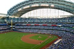 Béisbol en Miller Park en Milwaukee Fotos de archivo