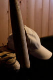 Béisbol, guante de la bola y palo Foto de archivo