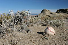 Béisbol realmente perdido fotografía de archivo libre de regalías