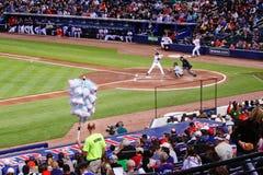 Béisbol - vendedor del caramelo de algodón en el estadio de béisbol Fotografía de archivo