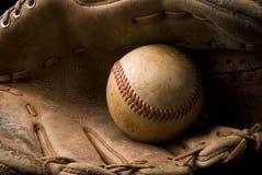 Béisbol y guante Imagen de archivo libre de regalías