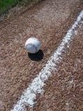 Béisbol y línea de fondo Fotografía de archivo libre de regalías
