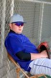 Béisbol y la actitud Imagen de archivo libre de regalías