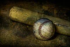 Béisbol y palo Imagen de archivo