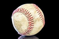 Béisbol y reflexión sucios de los childs Imagen de archivo libre de regalías