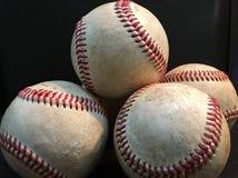 Béisboles apilados Imagen de archivo libre de regalías