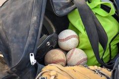 Béisboles en petate Foto de archivo