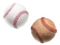 Béisboles viejos y nuevos Fotografía de archivo