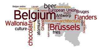Bélgica ilustração stock