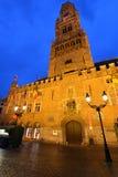 Bélgica, Bruges, torre de pulso de disparo Fotos de Stock Royalty Free