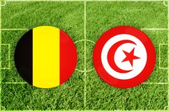 Bélgica contra partido de fútbol de Túnez libre illustration