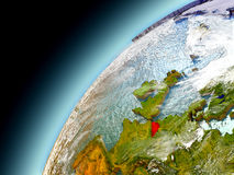 Bélgica da órbita de Earth modelo Fotos de Stock