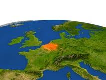 Bélgica en rojo de la órbita stock de ilustración