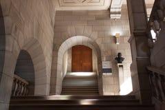 Bélgica, Lovaina - 5 de septiembre de 2014: Biblioteca histórica en Lovaina fotografía de archivo libre de regalías