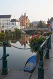 bélgica Senhor bonito da cidade no amanhecer Fotos de Stock Royalty Free