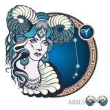 bélier zodiaque des symboles douze de signe de conception de dessin-modèles divers Image stock
