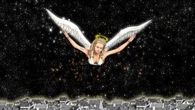 bénédiction d'ange gardien et gentillesse de propagation illustration de vecteur