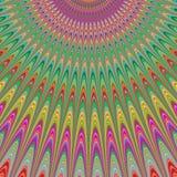 Bénédiction de ciel - conception colorée de fractale illustration stock