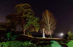Bénédiction de Jésus pendant la nuit Photos libres de droits