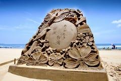 Bénédiction de sculpture en sable du Japon Photos stock