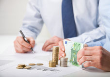 Bénéfice calculateur de comptables Photo libre de droits