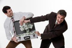 Bénéfice de clivage d'hommes d'affaires Images libres de droits