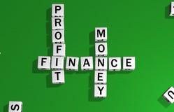 Bénéfice, finances et argent de matrices illustration stock