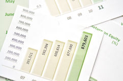 Bénéfice net de l'exercice après impôt Photos stock