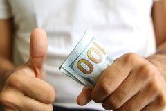 Bénéfices d'apparence de gagnant diffusion d'argent liquide Photo libre de droits