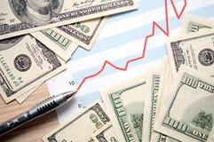 Bénéfices financiers image libre de droits