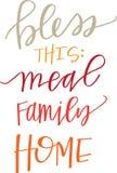 Bénissez notre repas, famille et maison Image libre de droits
