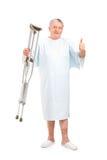Béquilles patientes aînées de fixation Images libres de droits