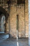 Bérgamo, Citta Alta, Italia Columnas Basílica Santa María Maggiore Imagen de archivo libre de regalías