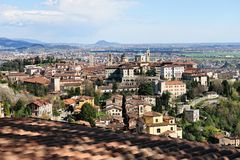 Bérgamo, Citta Alta, Lombardía, Italia Imagen de archivo libre de regalías