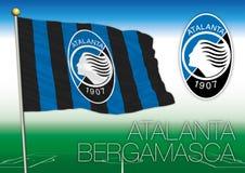 BÉRGAMO, ITALIA, AÑO 2017 - campeonato del fútbol de Serie A, bandera 2017 del equipo de Atalanta Bergamasca