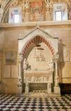 Bérgamo, Italia - 18 de agosto de 2017: Di Santa Maria Maggiore, interior adornado de la basílica del ` s de Bérgamo del oro Fotos de archivo libres de regalías