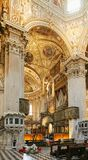 Bérgamo, Italia - 18 de agosto de 2017: Di Santa Maria Maggiore, interior adornado de la basílica del ` s de Bérgamo del oro Imagen de archivo