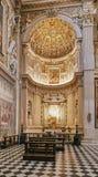 Bérgamo, Italia - 18 de agosto de 2017: Di Santa Maria Maggiore, interior adornado de la basílica del ` s de Bérgamo del oro Imagen de archivo libre de regalías
